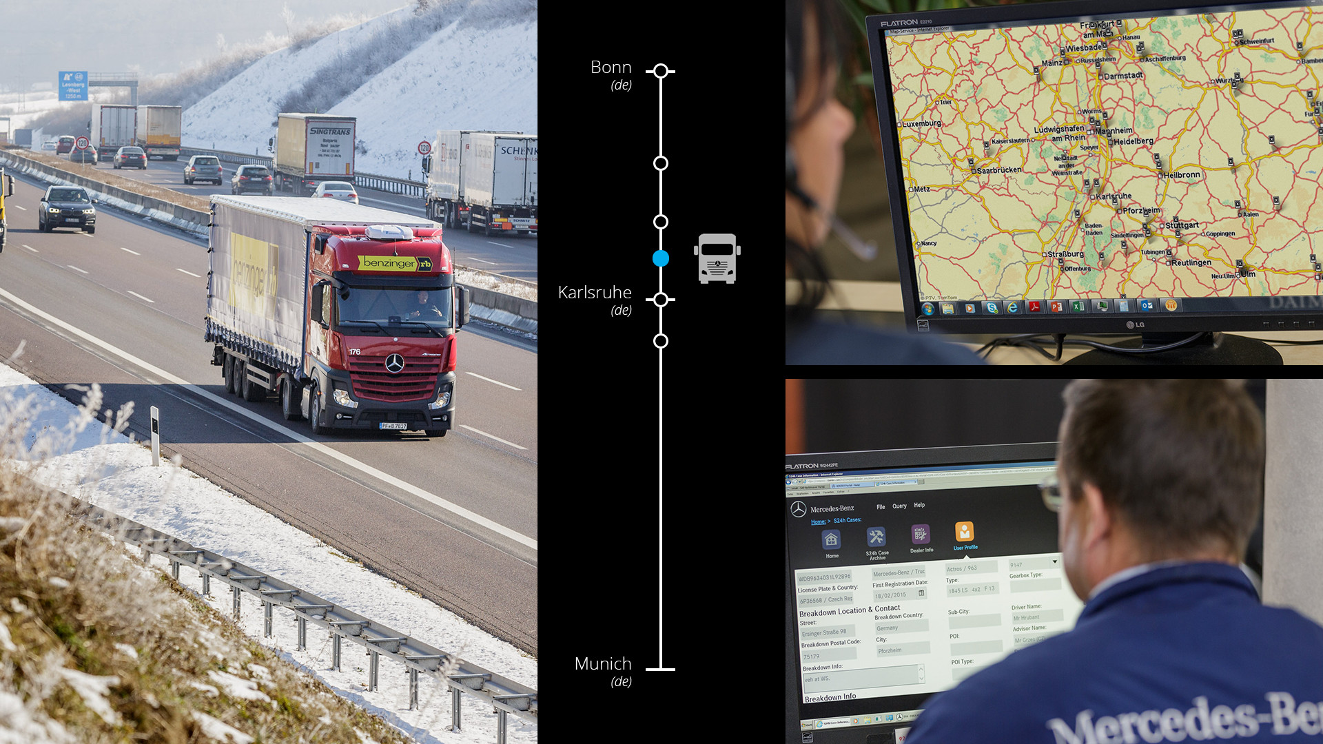Real-life example 1: fleet manager informs driver